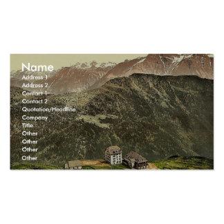 Belalp and Riederfurka Valais Alps of Switzerla Business Card Template