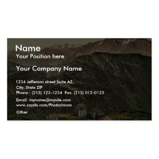Belalp and Riederfurka Valais Alps of Switzerla Business Card Templates