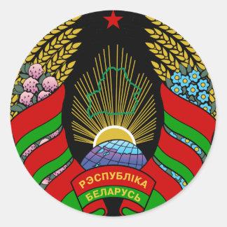 belarus emblem classic round sticker
