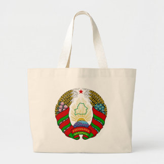 belarus emblem large tote bag
