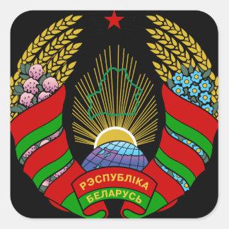 belarus emblem square sticker