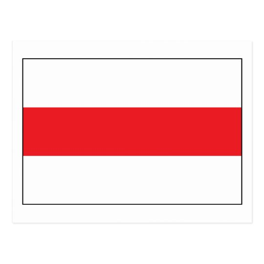Belarus Flag (1991) Postcard