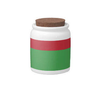 Belarus Flag And Name Candy Jar
