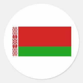 Belarus Flag BY Round Stickers