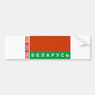 belarus flag country russian cyrillic text name bumper sticker