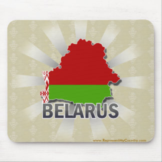 Belarus Flag Map 2.0 Mouse Pads