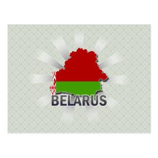 Belarus Flag Map 2.0 Postcard