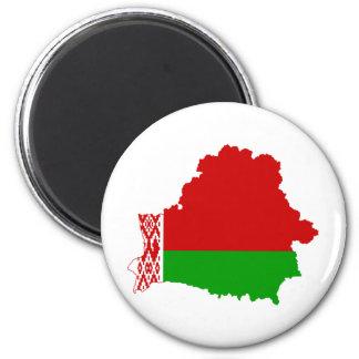 Belarus Flag map BY Magnet