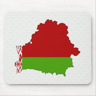 Belarus Flag Map full size Mousepads