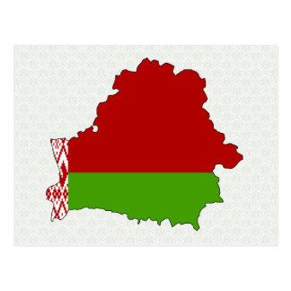 Belarus Flag Map full size Post Card