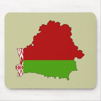 Belarus flag map mouse pad