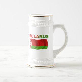 Belarus Flag (Wavy) Beer Stein