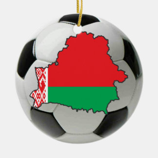 Belarus football soccer ornament