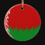 Belarus Gnarly Flag Ceramic Ornament