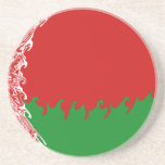 Belarus Gnarly Flag Coaster