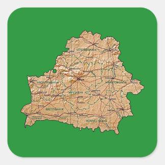 Belarus Map Sticker