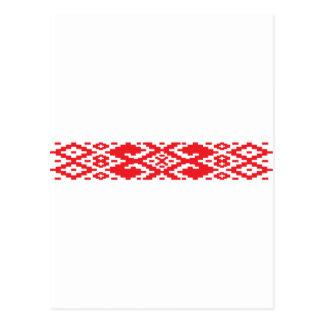 Belarus pattern, Belarus Postcard
