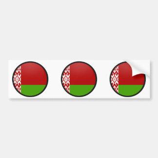 Belarus quality Flag Circle Bumper Sticker