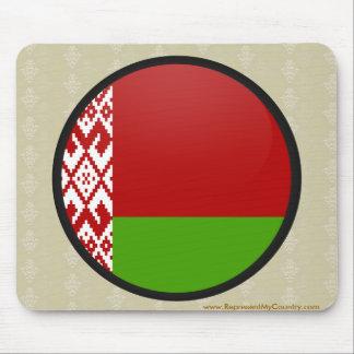 Belarus quality Flag Circle Mouse Pad