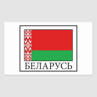 Belarus Rectangular Sticker