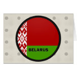 Belarus Roundel quality Flag Greeting Cards