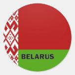 Belarus Roundel quality Flag Round Sticker