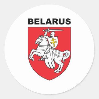 Belarus Round Stickers