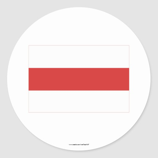 Belarus Traditional Flag Classic Round Sticker