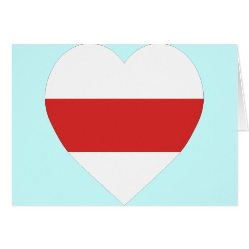 Belarus (traditional) Flag Heart Card