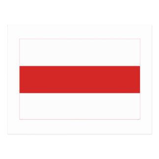 Belarus Traditional Flag Post Card