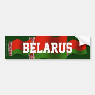 Belarus Waving Flag Bumper Sticker