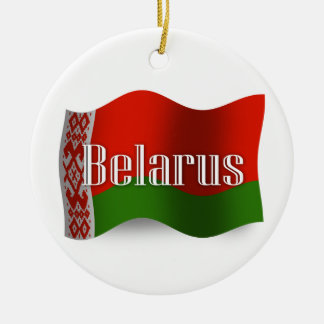 Belarus Waving Flag Ceramic Ornament