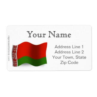 Belarus Waving Flag Label
