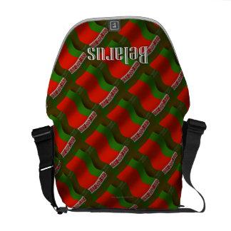 Belarus Waving Flag Messenger Bags
