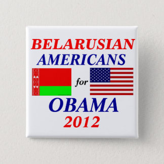 Belarusian americans for Obama Pinback Button