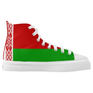 Belarusian Flag High-Top Sneakers