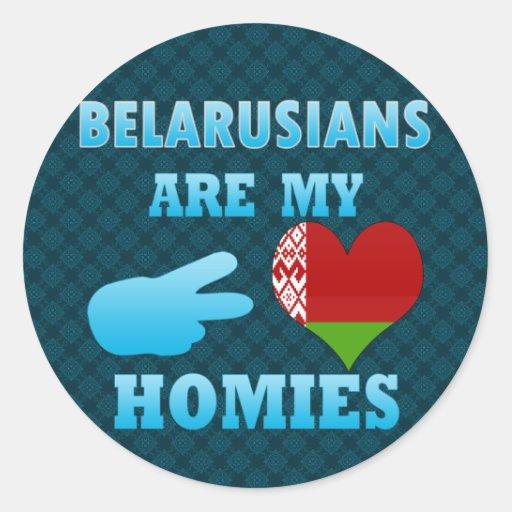 Belarusians are my Homies Sticker