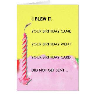 Belated Wedding Gift Poem : Birthday Poem Cards Zazzle
