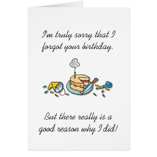 Belated Birthday Card
