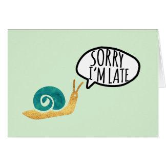 Belated Birthday Cute Snail Card