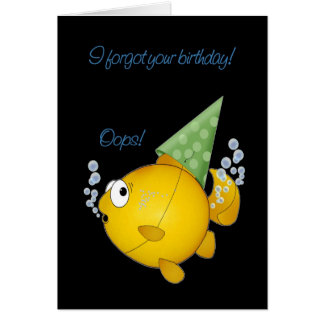 Belated birthday fish card
