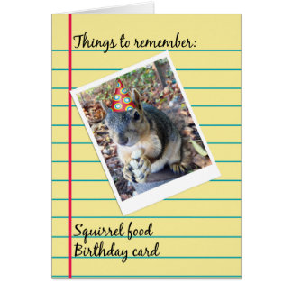 Belated Birthday Funny Squirrel in Party Hat Card