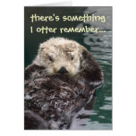 Belated Birthday Otter Card