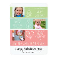 Belated christmas cards greeting photo cards zazzle belated christmas photo valentine card funny m4hsunfo