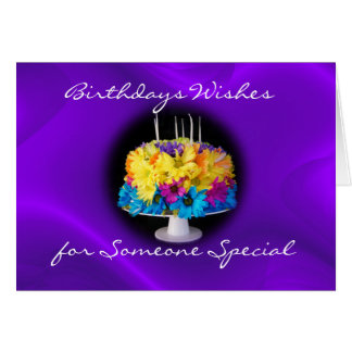 Belated Daisy Birthday Cake Card- personalize it Card