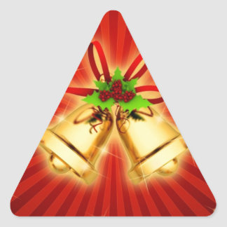 Belces festivas pegatinas trianguladas personalizadas