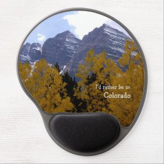 Belces marrón acercan a Aspen, gel Mousepad de Alfombrilla Gel
