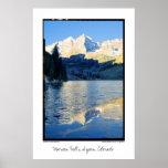 Belces marrón en hielo en la corriente, Aspen, Col Impresiones
