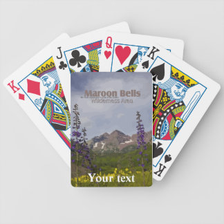 Belces marrón florales - naipes cartas de juego