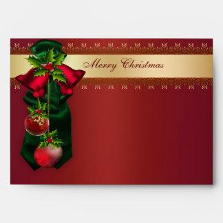 Belces rojas y día de fiesta rojo Envelo del navid